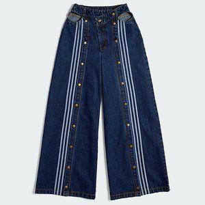 NWT AdidasxIvy Park Dark Demin Wide Leg Snap Pants
